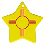 New Mexico State Flag -  Star Ornament (Two Sides)