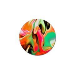Catch The Waves Smoky Red Orange Haze  Golf Ball Marker (10 Pack) by flipstylezdes