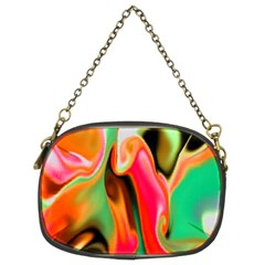 Catch The Waves Smoky Red Orange Haze  Chain Purses (two Sides)