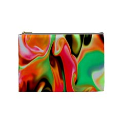 Catch The Waves Smoky Red Orange Haze  Cosmetic Bag (medium)