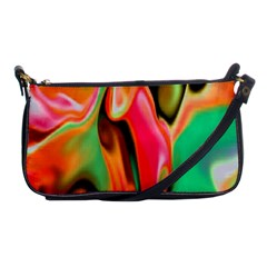Catch The Waves Smoky Red Orange Haze  Shoulder Clutch Bags