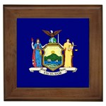 New York State Flag -  Framed Tile