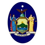 New York State Flag -  Ornament (Oval)