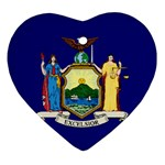 New York State Flag -  Ornament (Heart)