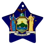 New York State Flag -  Ornament (Star)