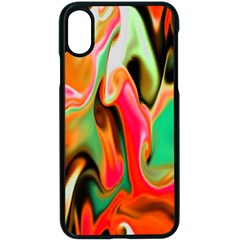 Catch The Waves Smoky Red Orange Haze  Apple Iphone X Seamless Case (black)