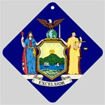 New York State Flag -  Car Window Sign