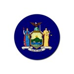 New York State Flag -  Rubber Coaster (Round)