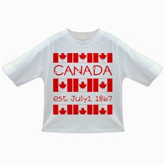 Canada Day Maple Leaf Canadian Flag Pattern Typography  Infant/toddler T Shirts