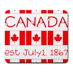 Canada Day Maple Leaf Canadian Flag Pattern Typography  Large Mousepads