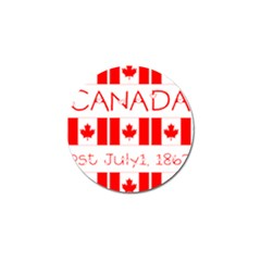 Canada Day Maple Leaf Canadian Flag Pattern Typography  Golf Ball Marker