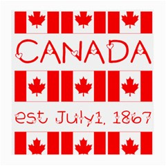Canada Day Maple Leaf Canadian Flag Pattern Typography  Medium Glasses Cloth (2 Side)