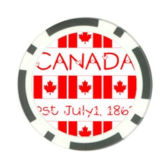 Canada Day Maple Leaf Canadian Flag Pattern Typography  Poker Chip Card Guard