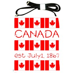 Canada Day Maple Leaf Canadian Flag Pattern Typography  Shoulder Sling Bags