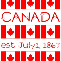 Canada Day Maple Leaf Canadian Flag Pattern Typography  Magic Photo Cubes by yoursparklingshop