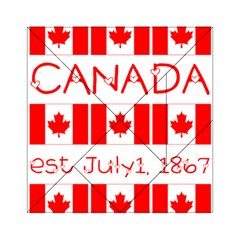 Canada Day Maple Leaf Canadian Flag Pattern Typography  Acrylic Tangram Puzzle (6  X 6 )