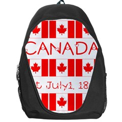 Canada Day Maple Leaf Canadian Flag Pattern Typography  Backpack Bag