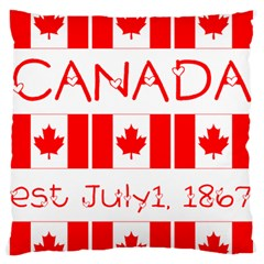 Canada Day Maple Leaf Canadian Flag Pattern Typography  Standard Flano Cushion Case (one Side)