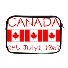 Canada Day Maple Leaf Canadian Flag Pattern Typography  Apple Macbook Pro 17  Zipper Case