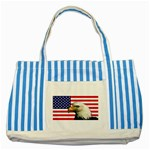 US Eagle Flag - Striped Blue Tote Bag