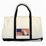 US Eagle Flag - Two Tone Tote Bag