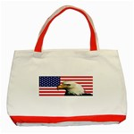 US Eagle Flag - Classic Tote Bag (Red)