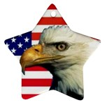 US Eagle Flag - Star Ornament (Two Sides)