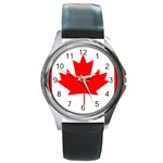 Canada Flag -  Round Metal Watch