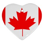 Canada Flag -  Ornament (Heart)