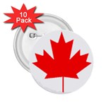 Canada Flag -  2.25  Button (10 pack)