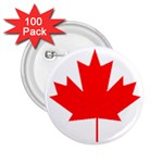 Canada Flag -  2.25  Button (100 pack)