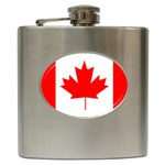 Canada Flag -  Hip Flask (6 oz)