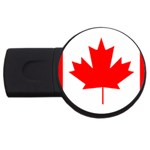 Canada Flag -  USB Flash Drive Round (2 GB)