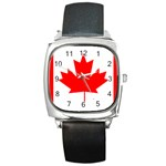 Canada Flag -  Square Metal Watch
