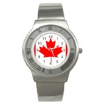 Canada Flag -  Stainless Steel Watch