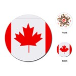 Canada Flag -  Playing Cards (Round)