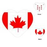 Canada Flag -  Playing Cards (Heart)
