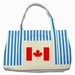 Canada Flag -  Striped Blue Tote Bag