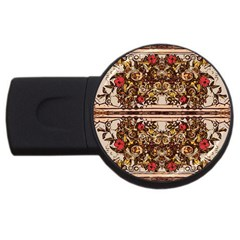 Roses Floral Wallpaper Flower Usb Flash Drive Round (4 Gb)