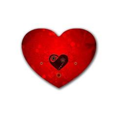 Wonderful Heart On Vintage Background Heart Coaster (4 Pack)