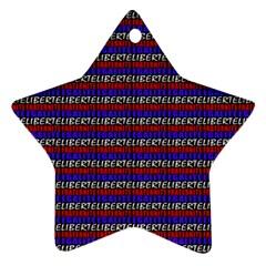 French Revolution Typographic Pattern Design 2 Ornament (star)