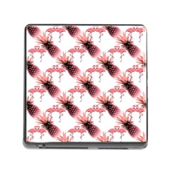 Flamingo Pineapple Tropical Pink Pattern Memory Card Reader (square 5 Slot)