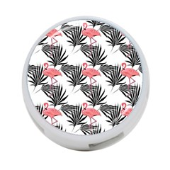 Pink Flamingos Palmetto Fronds Tropical Pattern 4 Port Usb Hub (two Sides)
