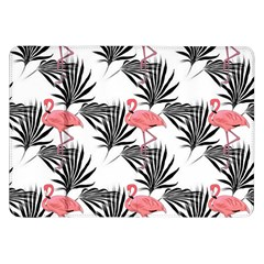 Pink Flamingos Palmetto Fronds Tropical Pattern Samsung Galaxy Tab 8 9  P7300 Flip Case by CrypticFragmentsColors