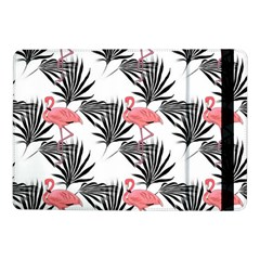 Pink Flamingos Palmetto Fronds Tropical Pattern Samsung Galaxy Tab Pro 10 1  Flip Case