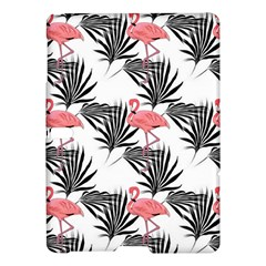 Pink Flamingos Palmetto Fronds Tropical Pattern Samsung Galaxy Tab S (10 5 ) Hardshell Case  by CrypticFragmentsColors