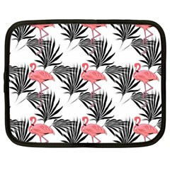 Pink Flamingos Palmetto Fronds Tropical Pattern Netbook Case (xl)