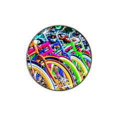 Colorful Bicycles In A Row Hat Clip Ball Marker (10 Pack)