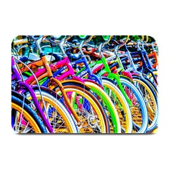Colorful Bicycles In A Row Plate Mats