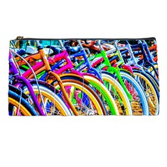 Colorful Bicycles In A Row Pencil Cases